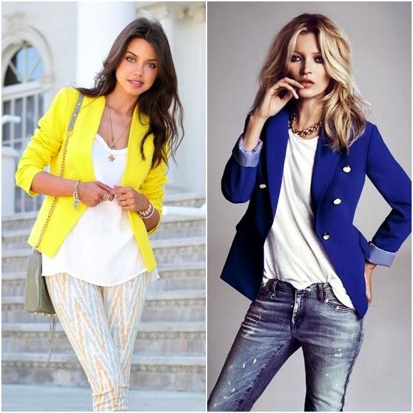 Looks com Blazer Dica Como Usar Colorido Azul Amarelo