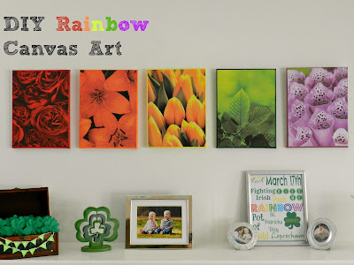 DIY Rainbow Canvas Art