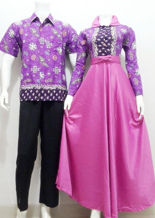 Baju batik gamis sarimbit kode srg87 batik bagoes solo Baju gamis vamosh