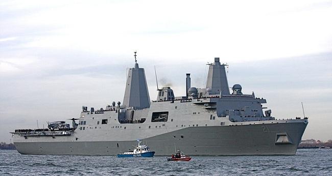 Στην Κύπρο το πολεμικό πλοίο USS New York -Φτιαγμένο από τα συντρίμμια των δίδυμων πύργων [βίντεο]