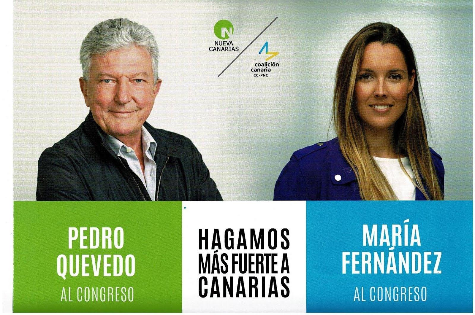 Pedro Quevedo Iturbe de Nueva Canarias será Diputado Canario en la próxima legislatura del Congreso