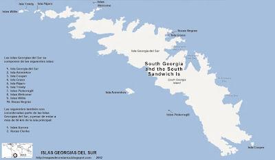 Mapa de ISLAS GEORGIAS DEL SUR, Antartida, Google Maps