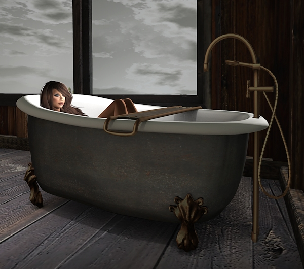 extra deep clawfoot tub. Vintage Romance Chic at Phil s Place