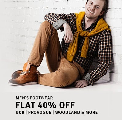 Get Flat 40% off on Men's Footwear