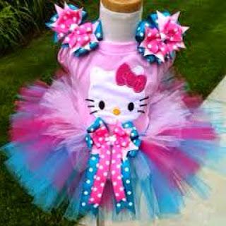 Tutu dress hello kitty cantik untuk anak cewek