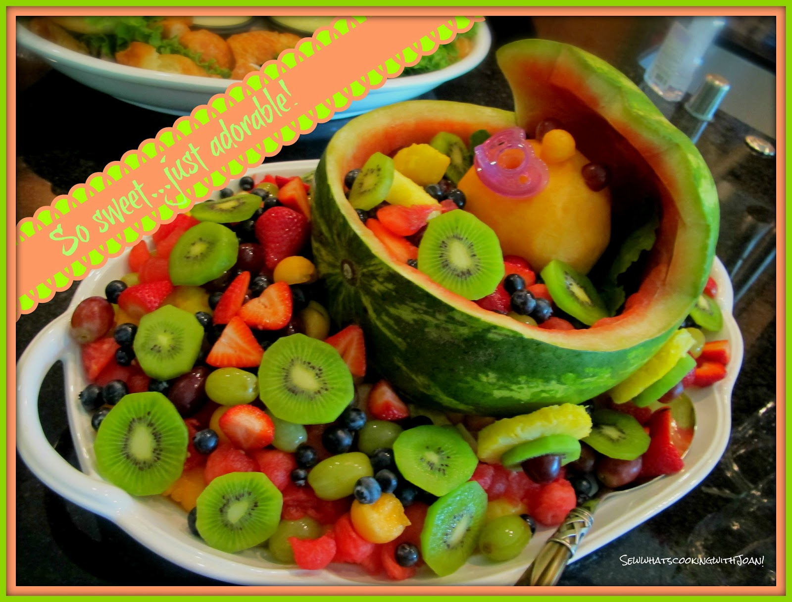Sew what s cooking with Joan How to carve a watermelon baby