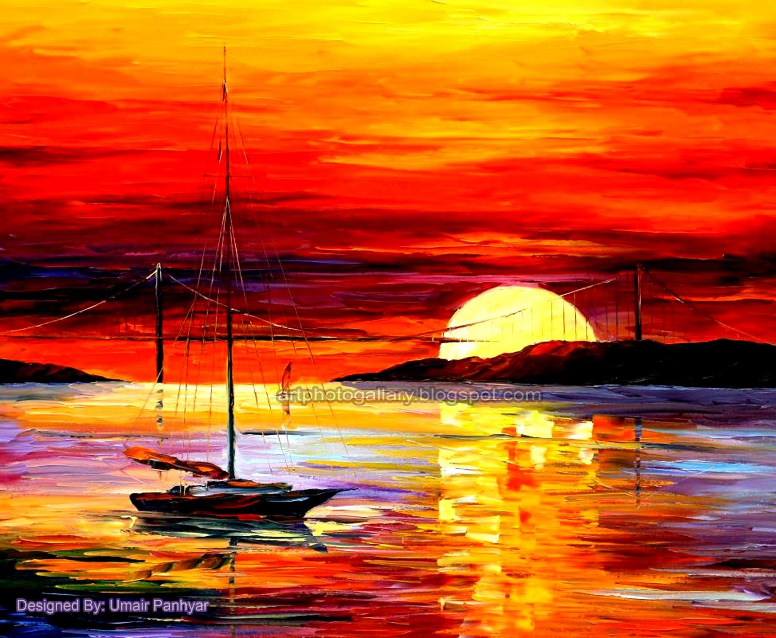 Sunset Painting - Art Photo Gallery