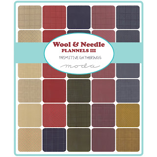 Moda WOOL & NEEDLE FLANNELS III Fabric by Primitive Gatherings for Moda Fabrics