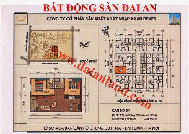 Căn hộ số 34 - Chung Cư HH4A Linh Đàm