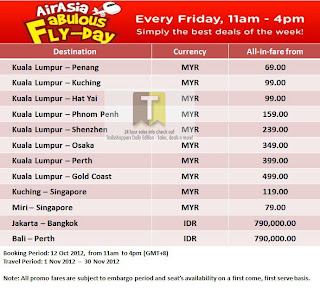 AirAsia Fabulous Fly-Day Offer 2012