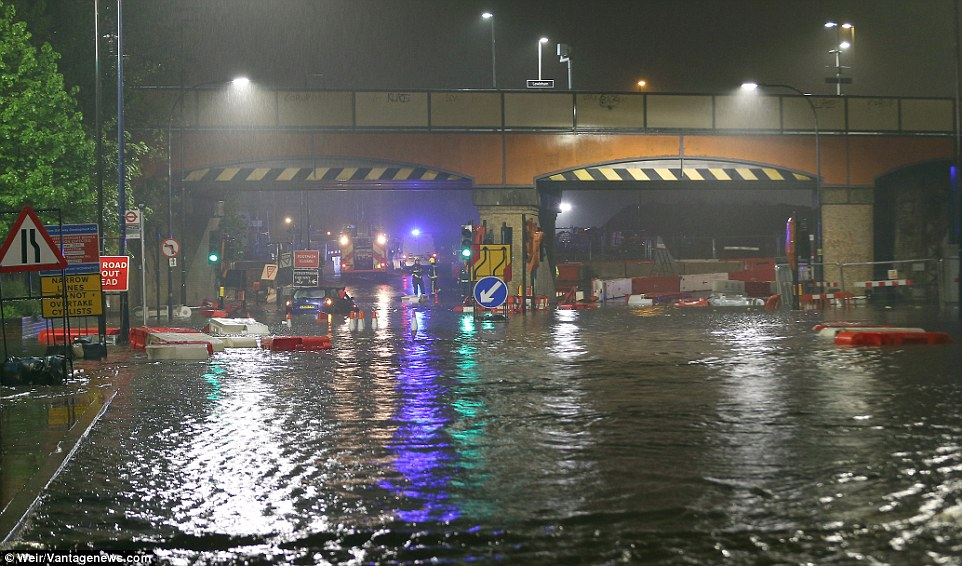 More weather chaos: Half a month's rain in just 12 hours hits London while Skye northern Scotland..
