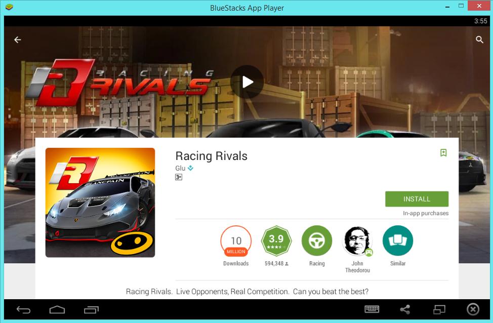 скачать racing rivals на пк
