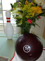 Bowling ball and pin - photo by Patricia Stimac, Seattle Wedding Officiant