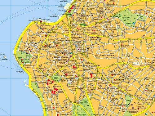 Mapa de Istambul