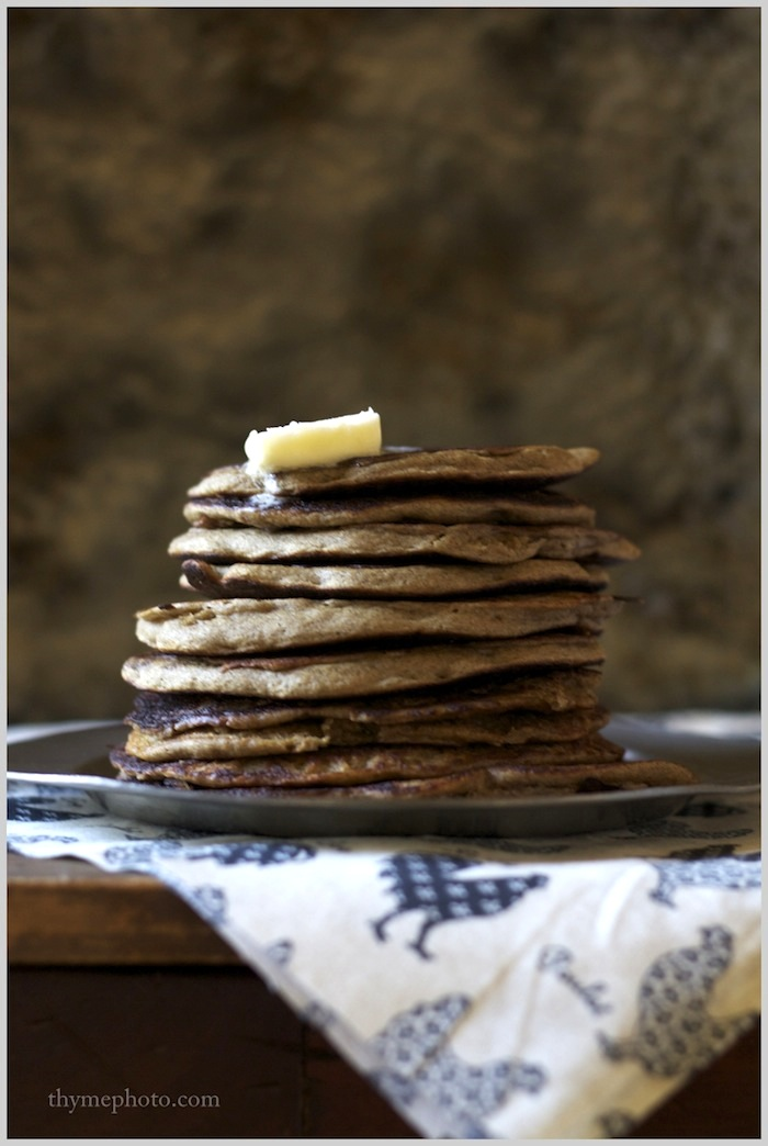 Thyme: Sunday Morning Buckwheat Pancakes...and the best cup of coffee ...