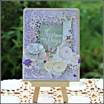 Those Were The Days Card created by Rhonda Van Ginkel featuring the Deja Vu collection by Blue Fern Studios for C'est Magnifique Kit Club June 2015 Kits Guest Designer