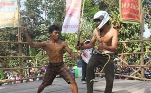 Ritual Cambuk Badan Tiban