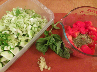 Ingredients Prepared and Ready to Cook