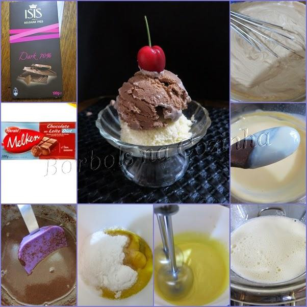 Sorvete de Chocolate diet e sem glúten MARAVILHOSO