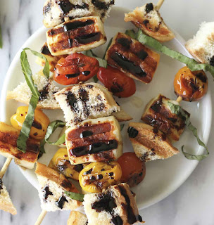 Balsamic Bread Cheese Kabobs