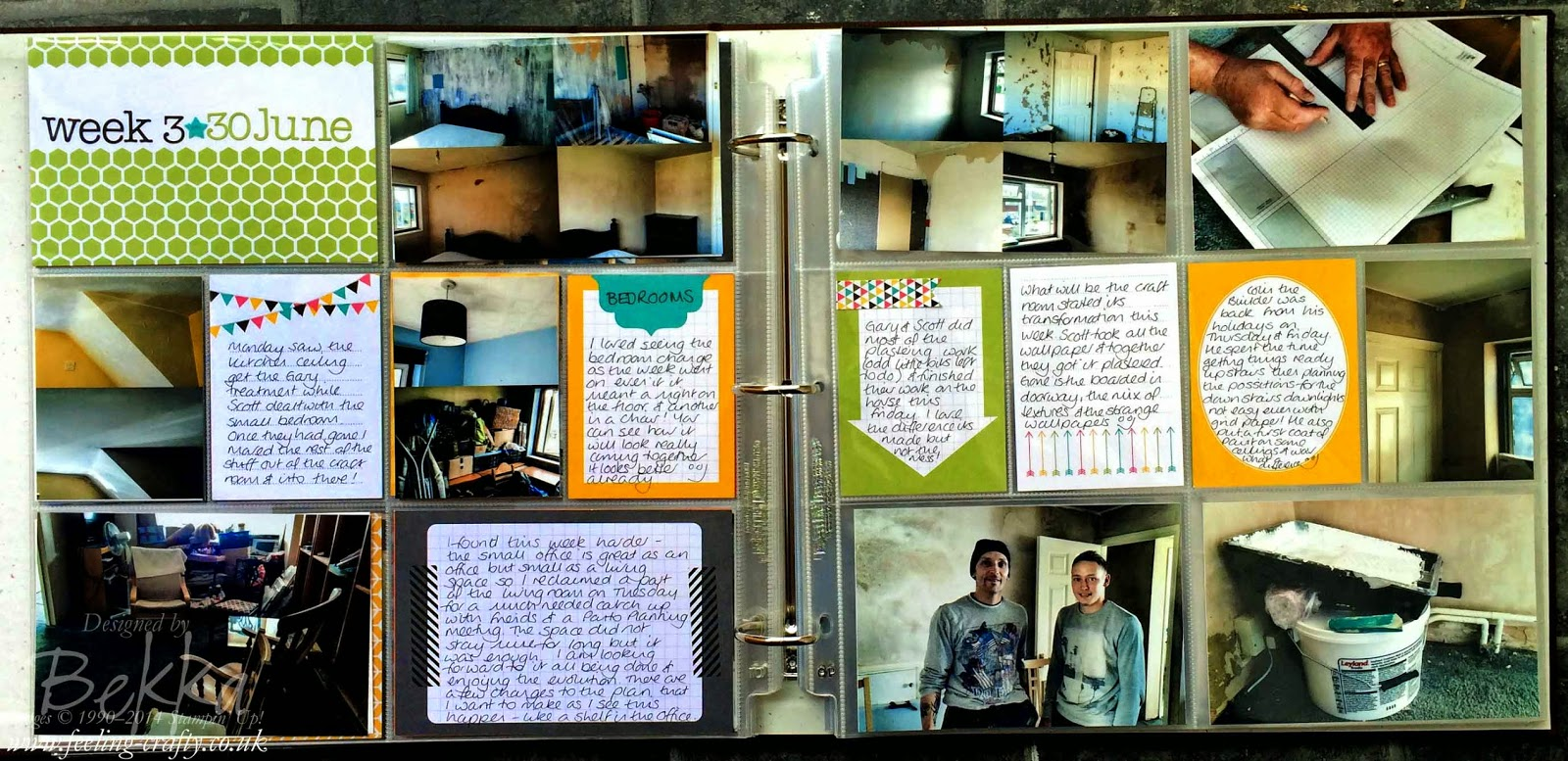 Project Life Page about my House Renovations by Bekka