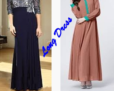 +Contoh long dress atau maxi dress, +Gambar maxi dress atau dress panang