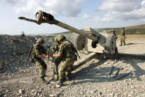 mengatur posisi Howitzer