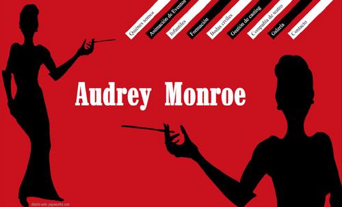página web de Audrey Monroe: todo tipo de animaciones y eventos en Madrid