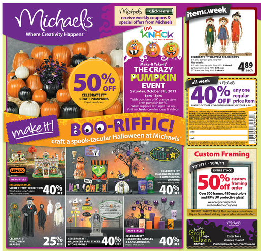 michaels has some great prices on halloween items this week you can view this weeks ad here