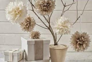 Kerajinan Tangan Bunga Kertas Bulat