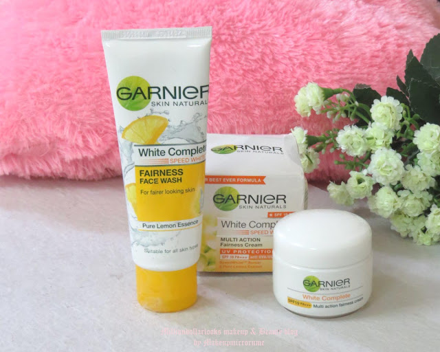 #7DayGarnierChallenge: Garnier White Complete Speed White Fairness Face Wash & Multi Action Fairness Cream Review | MillionDollarLooks Makeup & Beauty Blog, Garnier white complete speed white facewash review, Garnier white complete fairness cream review india, indian beauty blog, indian makeup blog, Skincare, skin whitening, Instant bright skin