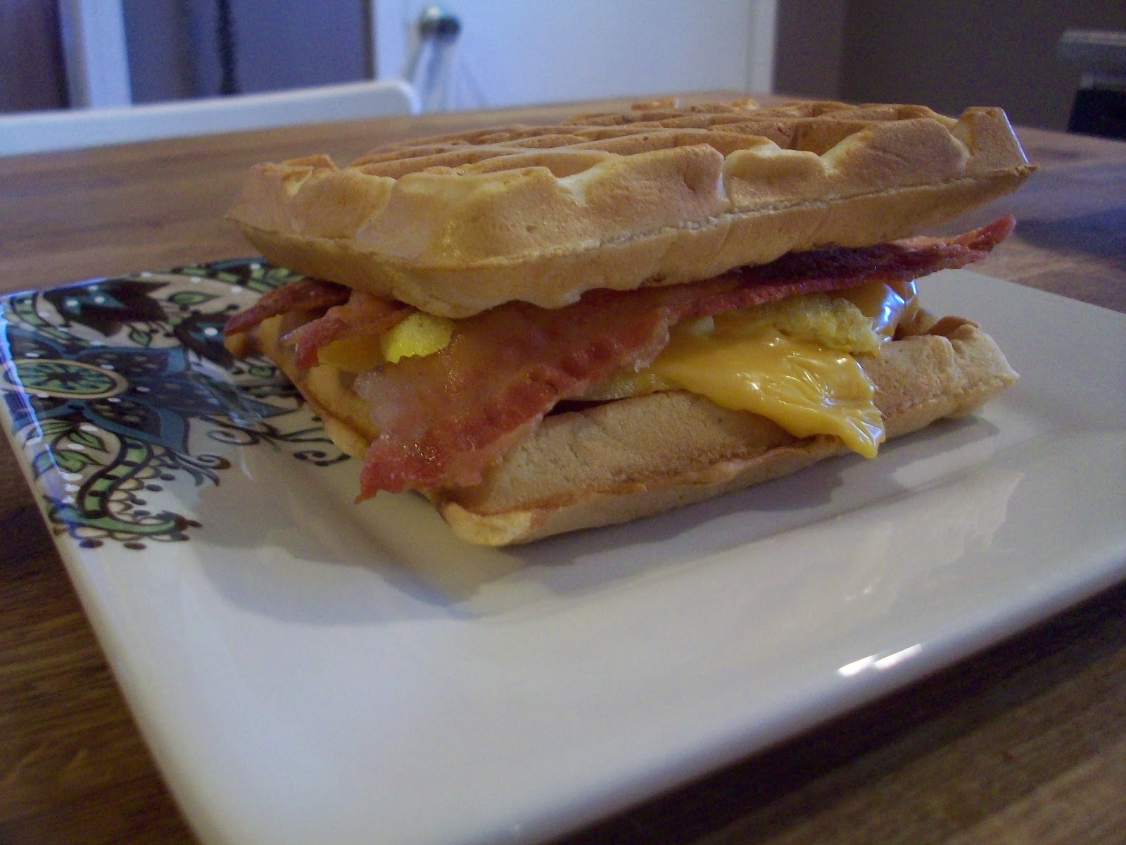 ... : Bacon, Egg and Cheese Waffle Sandwich and An Easy Science Activity