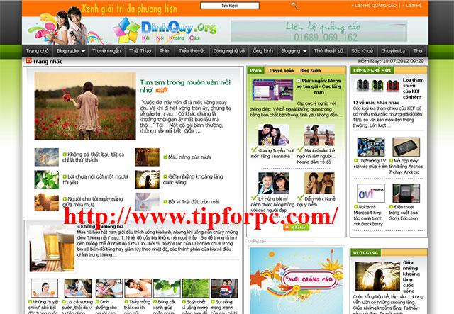 Source code Website tin tức PHP & Mysql