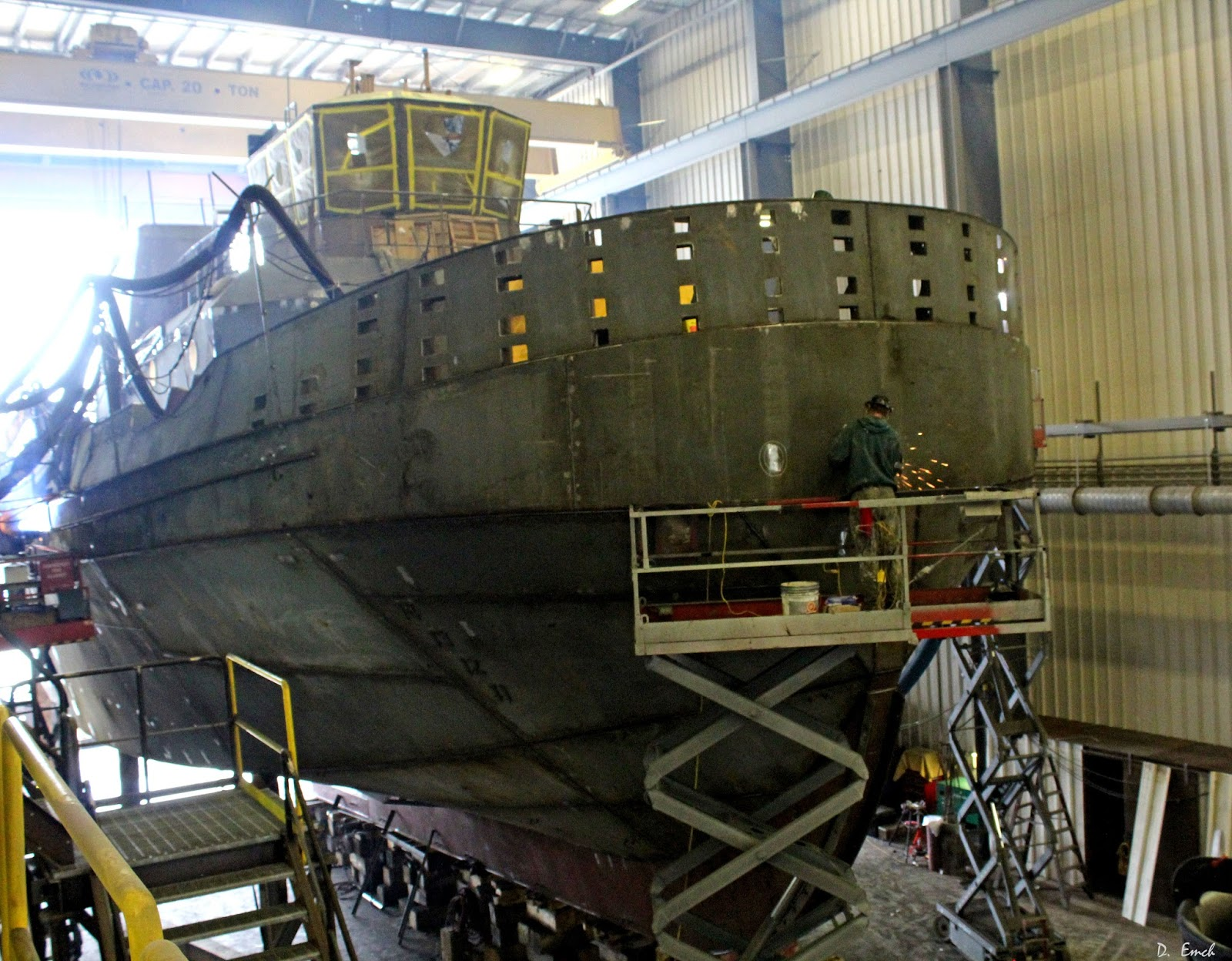Capture America Journal: Maine: Bath and Boothbay tug boat building