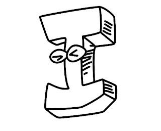 Alfabeto para colorir - Letra I colorir