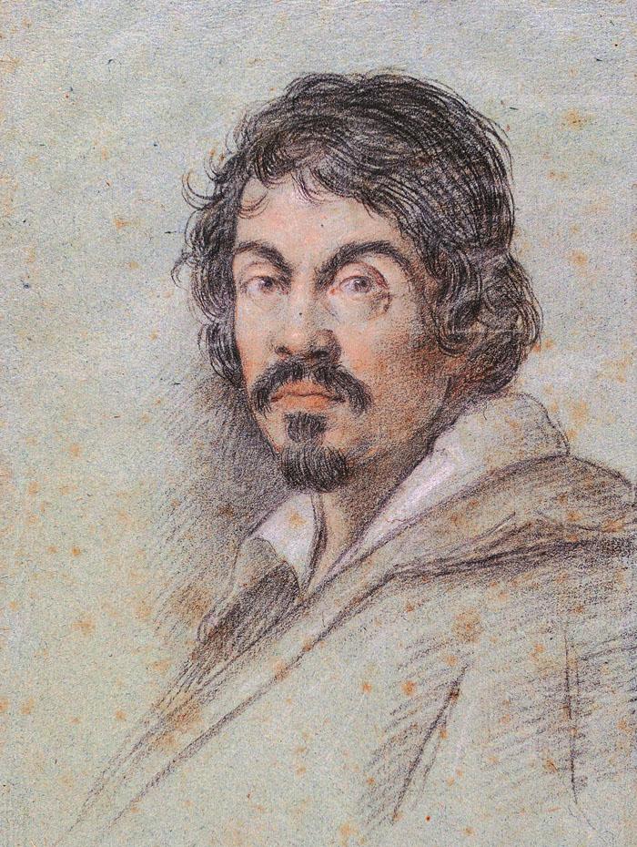 Retrato de Caravaggio pintado por Ottavio Leoni, em 1621. © Domínio Público