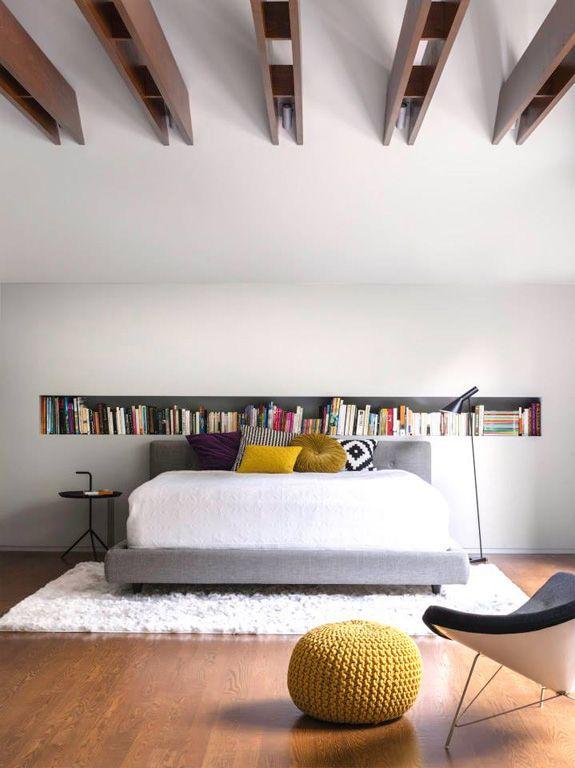 Bedroom Recessed Shelves