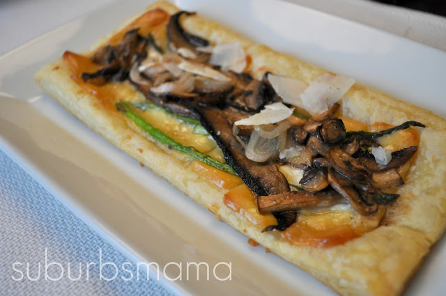 Mushroom and Cheese Tart
