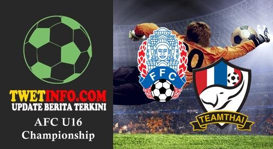 Prediksi Cambodia U16 vs Thailand U16, AFC U16 04-09-2015