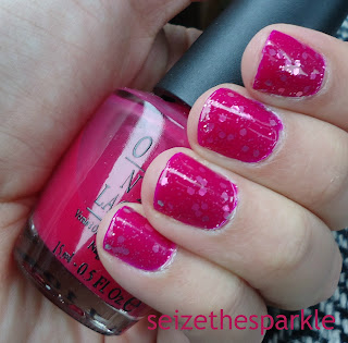 Hot Pink Jelly Glitter Sandwich
