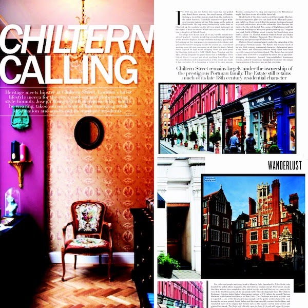 Chiltern Street feature Men's Folio Magazine Singapore May 2014