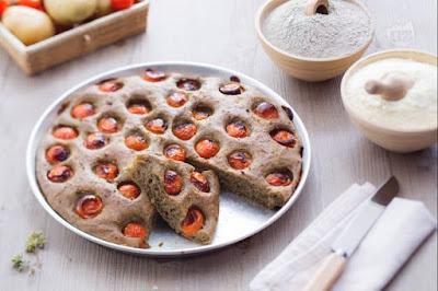 buongiornolink - La ricetta del giorno Focaccia di grano arso ai pomodorini
