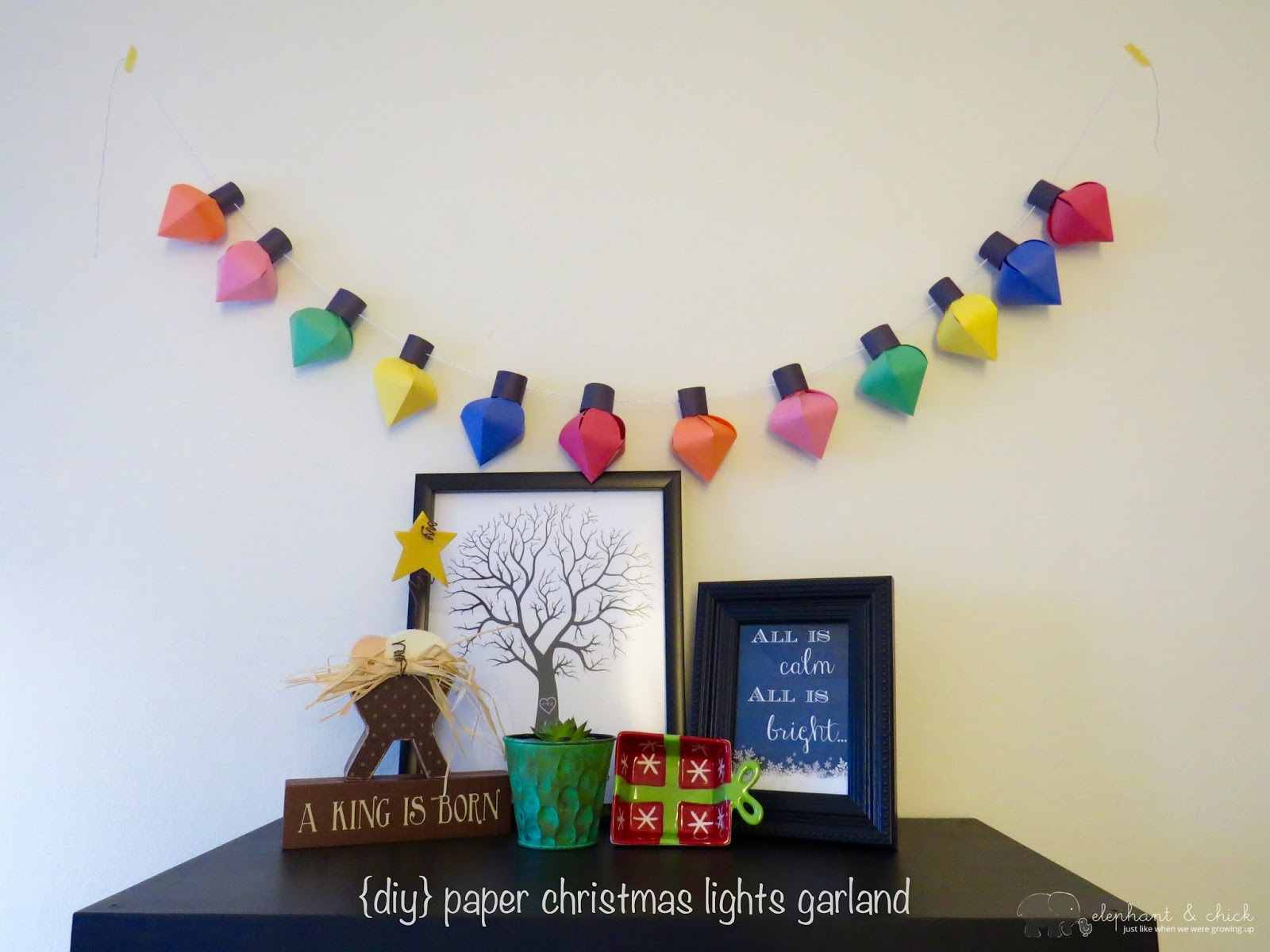 How to make a christmas decoration out of paper - Once I Set My Mind To It It Was Actually Fairly Simple To Put Together The First Few Lights Took A Little While To Put Together But Soon I Was A