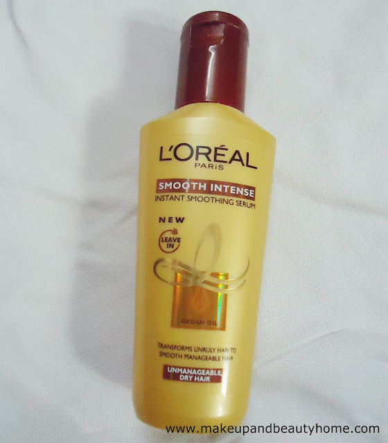 L'Oreal Paris Smooth Intense Instant Smoothing Serum Review - Makeup And Beauty Home