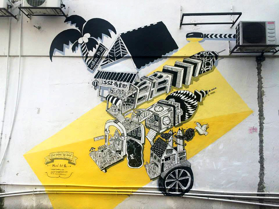 Awesome One of the murals at the side lanes of SS Petaling Jaya Image from Yeo Bee Yin