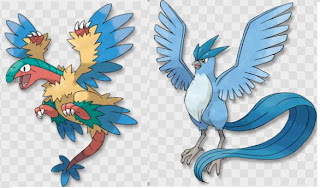 Pokemon AR Searcher Compare with Archeops and Articuno