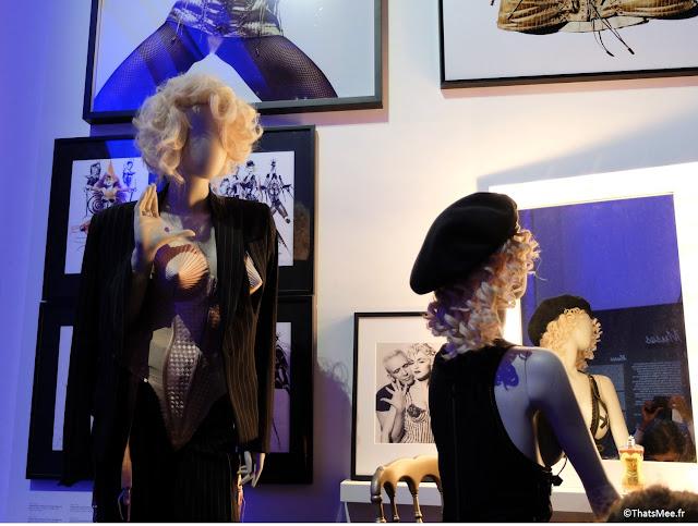 tenues de scène Madonna année 90 seins coniques Jean-Paul Gaultier, expo JPG Grand Palais Paris