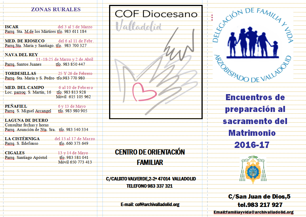 Cursillos Prematrimoniales 2016 - 2017 (I)