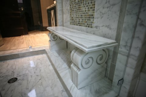 Take A Seat! Custom Stone Shower Benches