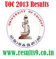 University Of Calicut  MCJ Entrance Exam Results 2013